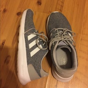 Gray Adidas tennis shoes